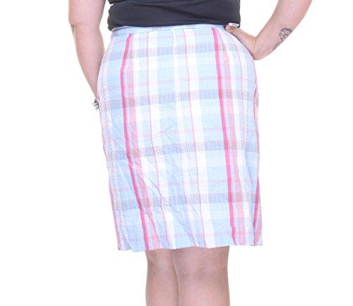Anne Klein Women's Madras 2 Pocket Skirt, Bright Water Como, 4 (Anne Klein Lined Skirt)