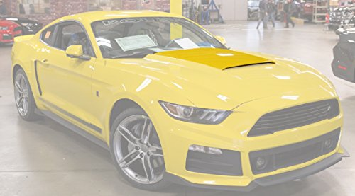 (2015-2017 Roush Mustang Custom Painted Hood Scoop - Triple Yellow H3)