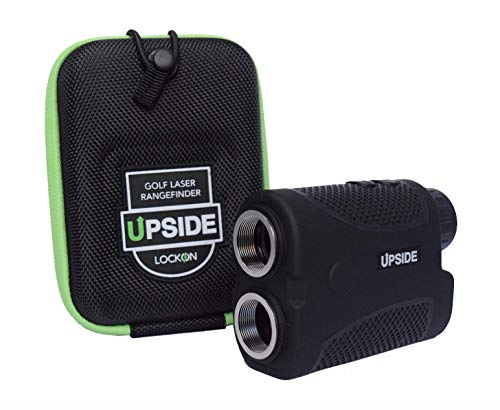 - Upside Golf LOCKON Rangefinder - Worlds First Built-in Magnet, Pinseeker Lock, Slope Mode, 6X Laser Rangefinder 650+ Yards, Accurate Distance to 1 Yard, Water Resistant Tournament Legal Rangefinder