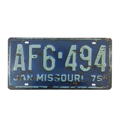 6x12 Inches Vintage Feel Rustic Home,bathroom and Bar Wall Decor Car Vehicle License Plate Souvenir Metal Tin Sign Plaque (MISSOURI AF6 494)