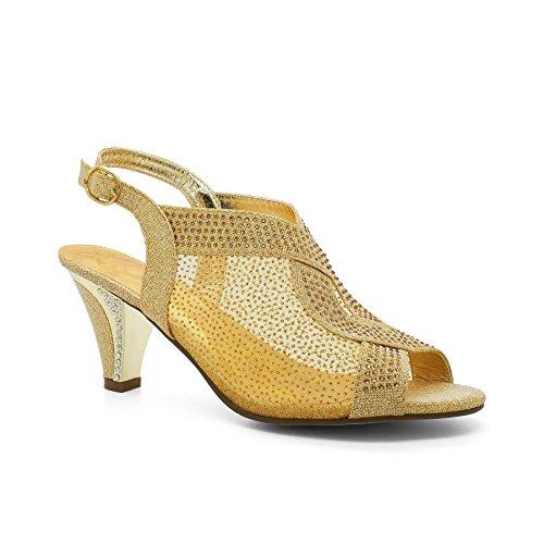 Footwear cheville Doré de Bride femme London RAF4wF