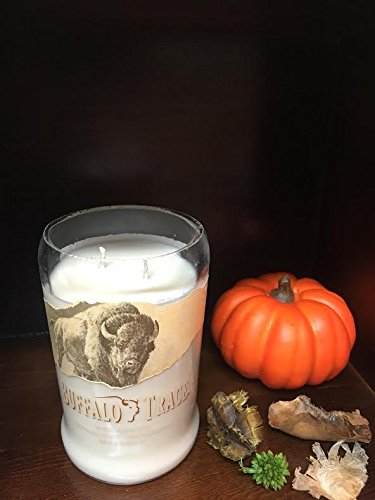 BUFFALO TRACE Bourbon Whiskey Soy Candle I Recycled-