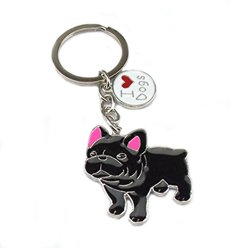 french bulldog key ring - 2