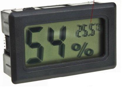 Avianweb AV-1951HT Digital Mini Instant-Read Temperature (Fahrenheit) & Humidity Gauge Thermometer (Hygrometer) Most Popular Applications for Cars, Incubators and Brooders, Black
