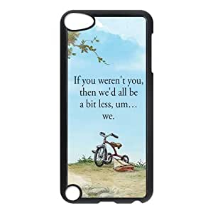 Customize Generic Hard Plastic Shell Phone Cover Winnie the Pooh Quotes Back Case Suitable For iPod 5 Touch 5th Generation