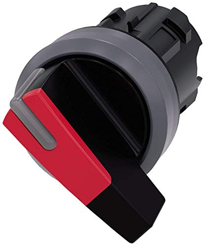 Matte Metal Red O-I IP66 Plastic with Metal Front Ring IP67 Siemens 3SU10322CF200AA0 Selector Switch 22mm IP69K Protection Rating
