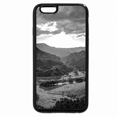 iPhone 6S Case, iPhone 6 Case (Black & White) - fabulous river valley