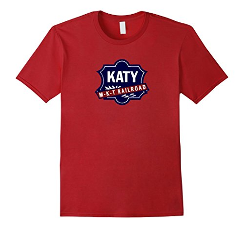 Mens Vintage Katy Lines MKT Railroad Logo shirt 2XL Cranberry (Logo Railroad)