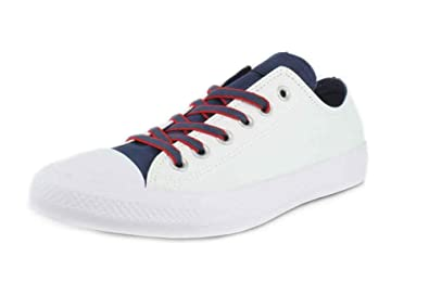 official photos 3f732 48eb8 Converse Unisex Chuck Taylor All Star Sneakers, Mens, White Navy Gym Red