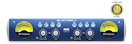 PreSonus BlueTube DP V2 2-channel Mic/Instrument Tube Preamp Two Channel Microphone Preamp