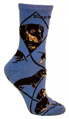 Dachshund Woman's Socks Size 9-11 Indigo