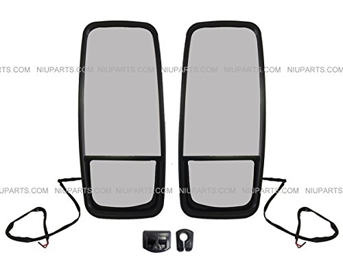 Door Mirror Heated Black – Driver & Passenger Side (Fit: Mitsubishi FUSO Truck)