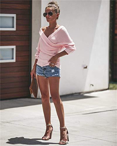 Longues Femme Laisla Pulli V Manches Cou fashion PqnFx0Z