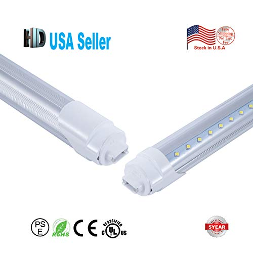 US stock 10 pack 4ft 18w T8 led tube light UL DLC list with R17D cap transparent cover replace the fluorescent light AC 100-277V 6500k 4 foot led fluorescent tube ballast bypass