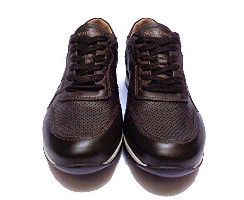 scarpe Uomo Nero Giardini p704800u casual da in pelle t. di moro num.