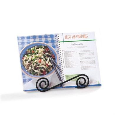 Spectrum Diversified Scroll Cookbook, Tablet & Plate Holder, Black by Spectrum Diversified