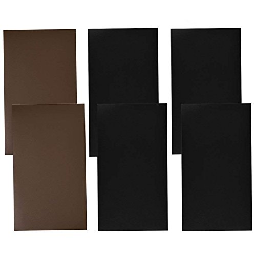 NKTM 6 Pack Leather Repair Patch Self-Adhesive Sofa Patch First-aid for Car Seats Handbags Jackets 10 Inch by 6 Inch Black and Brown