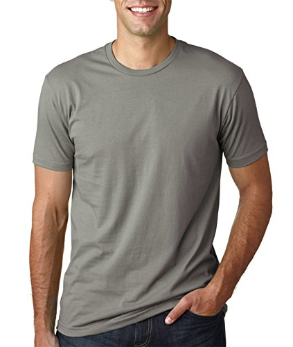 Next Level Mens Premium Fitted Short-Sleeve Crew T-Shirt - Heavy Metal + Warm Grey (2 Pack) - XX-Larte