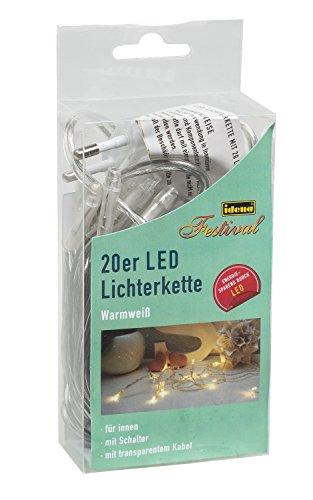 Idena LED Lichterkette 20-er, mit Schalter, für Innen, Länge 3,40 m, warmweiß 31117