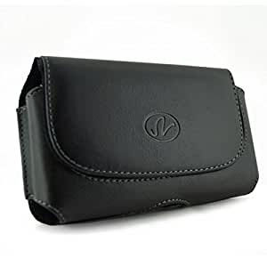 [MST] Black Horizontal Leather Cover Belt Clip Side Case Pouch For Samsung Sgh-T105G T105-G