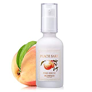 SKINFOOD Peach Sake Pore Serum 45ml (1.52 oz) - Tighten Pores and Sebum Control Skin Smoothing Facial Serum for Oily Skin, Rich in Vitamin C and A