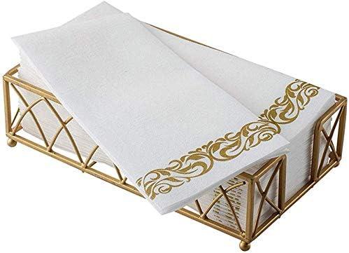 Amoyer 50 Pi/èces en Papier Ronds De Serviettes Serviettes en Papier Boucle Table Support pour Serviette De Soir/ée De Mariage D/îner Bureau D/écor
