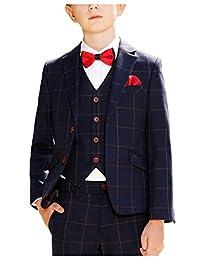JYDress Boys Plaid Suit Children's Clothing Slim Fit Formal Suits for Wedding