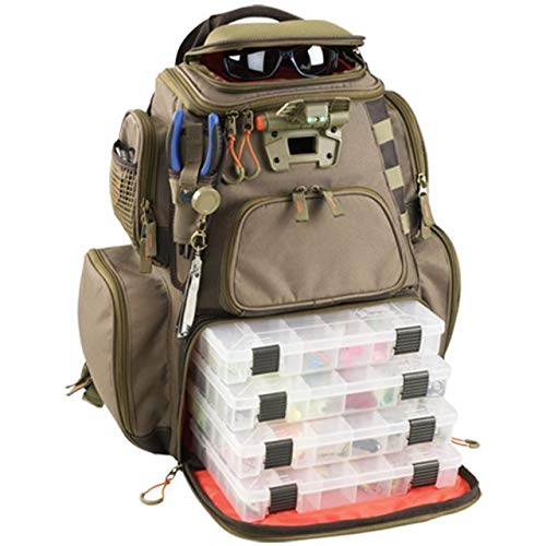 Wild River Tackle Tek Nomad Lighted Backpack with 4 Trays WT3604