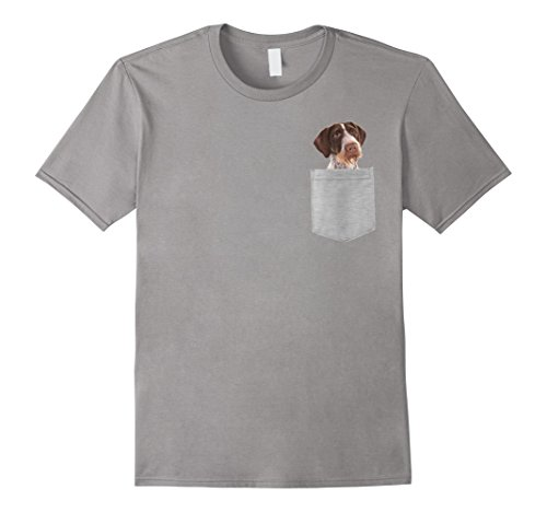 Mens Dog in Your Pocket Pointer German Wirehaired t shirt shirt XL Slate