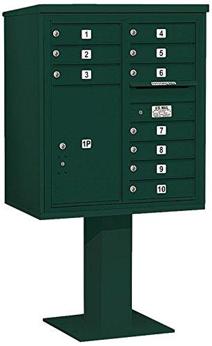 Salsbury Industries 3409d-10grn 4 C Pedestalメールボックス、グリーン   B005HDZ6BI
