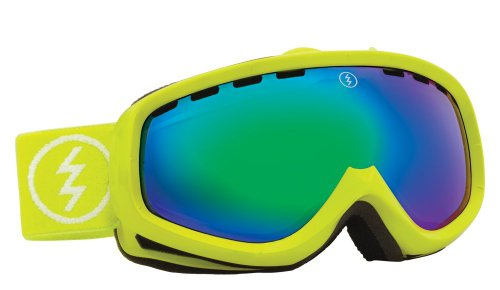 Egk Youth Goggles - Electric Visual EGK Toxic Snot/Bronze Green Chrome Youth Snow Goggle