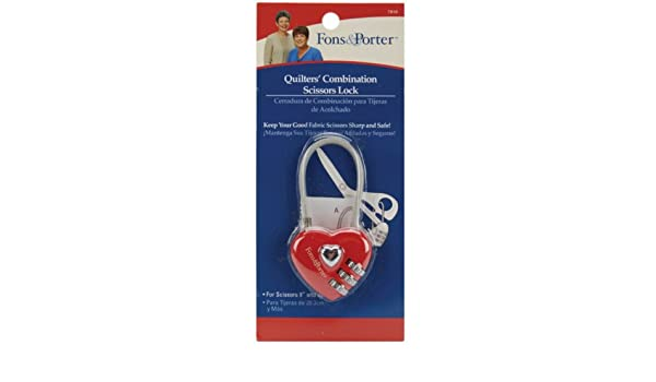 Amazon.com: Fons & Porter Safety Tool - Quilters Combination Scissors Lock - 8