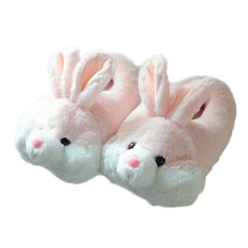 - Women Plush Indoor Rabbit Slipper Super Soft Warm Winter Booties Pink Bunny 5.5-6.5 M US