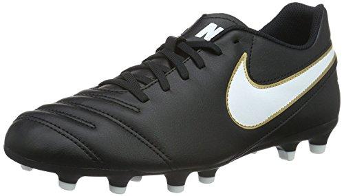 Men's Nike Tiempo Rio III FG Soccer Cleat Black/White Size 9.5 M US