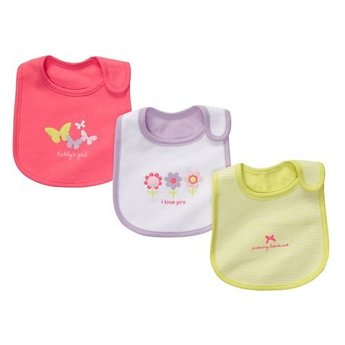 Carter's 3 Pack Teething Bibs - I Love You-Pink-One Size
