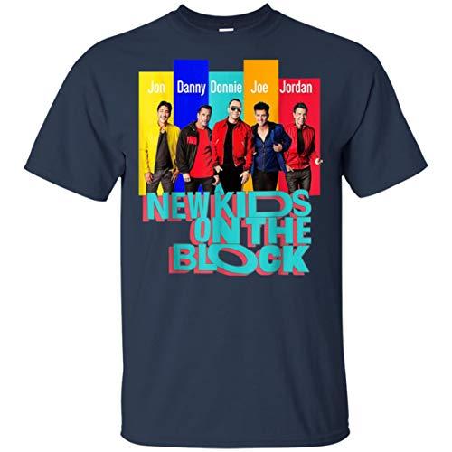Vintage Kid New On The-Blocks T-Shirt New-Kids Shirt (Unisex T-Shirt;Navy;2XL) (New Kids On The Block T Shirts Vintage)