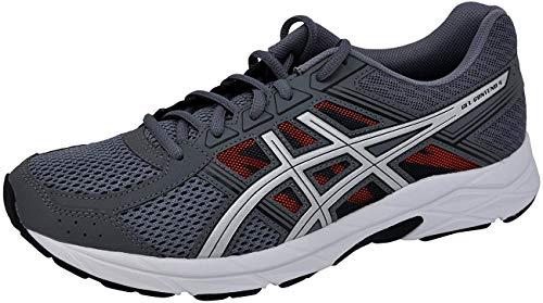 ASICS Men's Gel-Contend 4 Running Shoe Carbon/Silver/Orange, 13 D(M) US