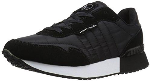 Hawke & Co Mens Warren Låg Mode Sneaker Svart