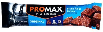 Promax Double Fudge (Promax Energy Bar Double Fudge Brownie - 12 - 2.64 oz bars by Promax)