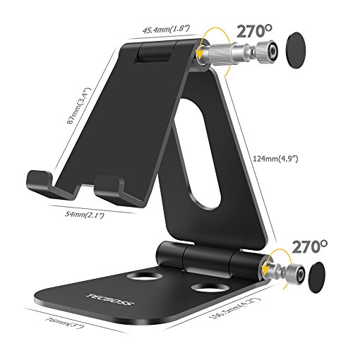 (2 in 1)Tecboss Tablet Stand, Multi-Angle Adjustable Desktop Cell Phone Stand Holder for Nintendo Switch, iPad mini Air 2 3 4 Pro, iPhone 6 7 8 X Plus - Easy Adjust & Take Anywhere by Tecboss (Image #3)