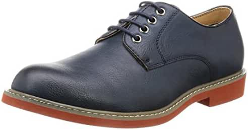 O-NINE Men's Lace-up Derby Shoes Black Gray Navy Red