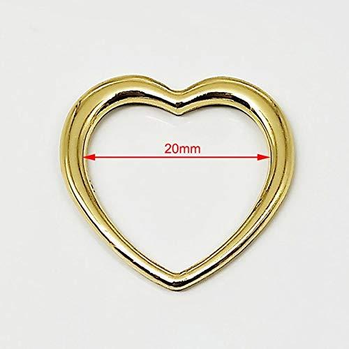 Kamas Belt Gold Color Sexy Buckle Japanese Style Peach Heart Simple Fashion Generous Accessories Temperament 12 pcs/Pack 20mm - (Color: Golden)