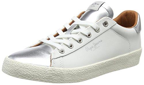 Pepe Silver Silber Damen W Sneaker Jeans Portobello rwrURSq