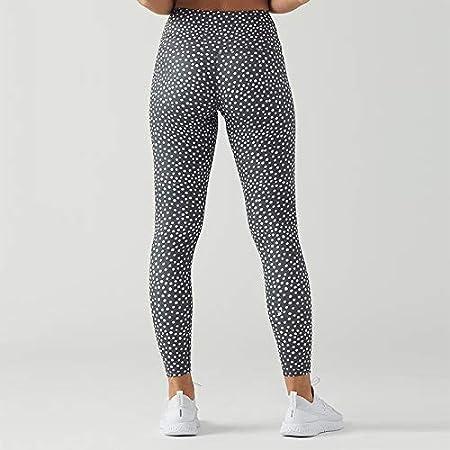 Leggings de Lunares Mujer Azulado Pantalones de Yoga de ...