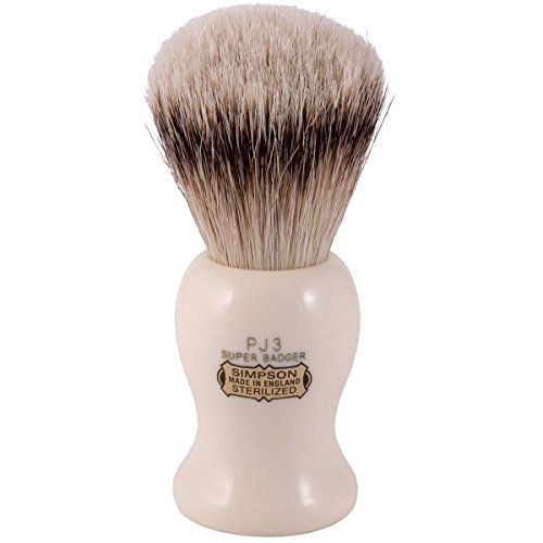 Simpsons Persian Jar PJ3 Super Badger Hair Shaving Brush Large - Imitation Ivory