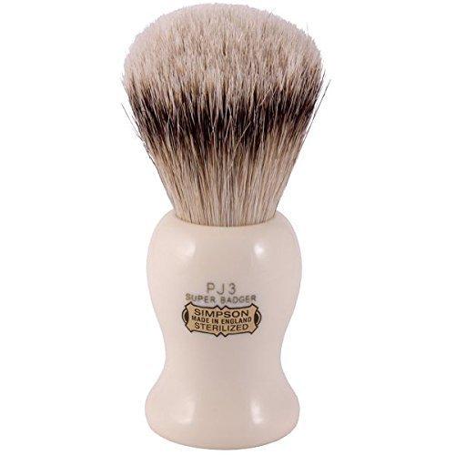 Simpsons Persian Jar PJ3 Super Badger Hair Shaving Brush Large - Imitation Ivory by Simpson