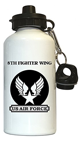 8th Fighter Wing - US Air Force Water Bottle White, 1026