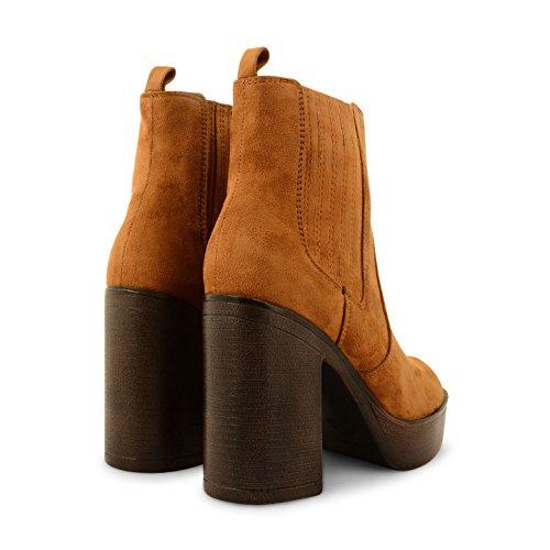 Footwear Sensation - Botas para mujer - PD7-Tan Suede