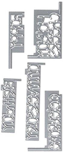 Sizzix 660720 Thinlits Die Set, Celebrate Drop-Ins Sentiments by Stephanie Barnard, 5/Pack -