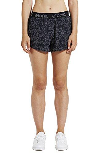 Etonic Women's Fluid Running Shorts, Black Print, - Shorts Running America